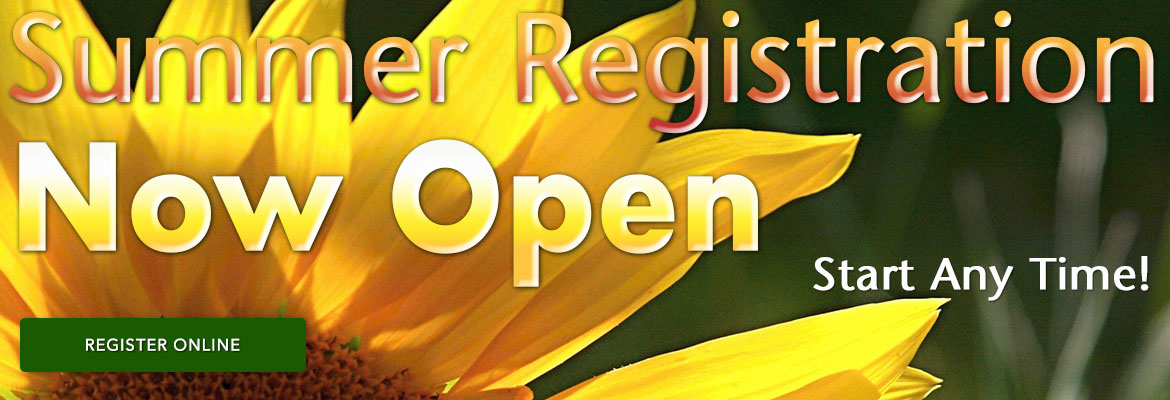 Summer Registration Now Open
